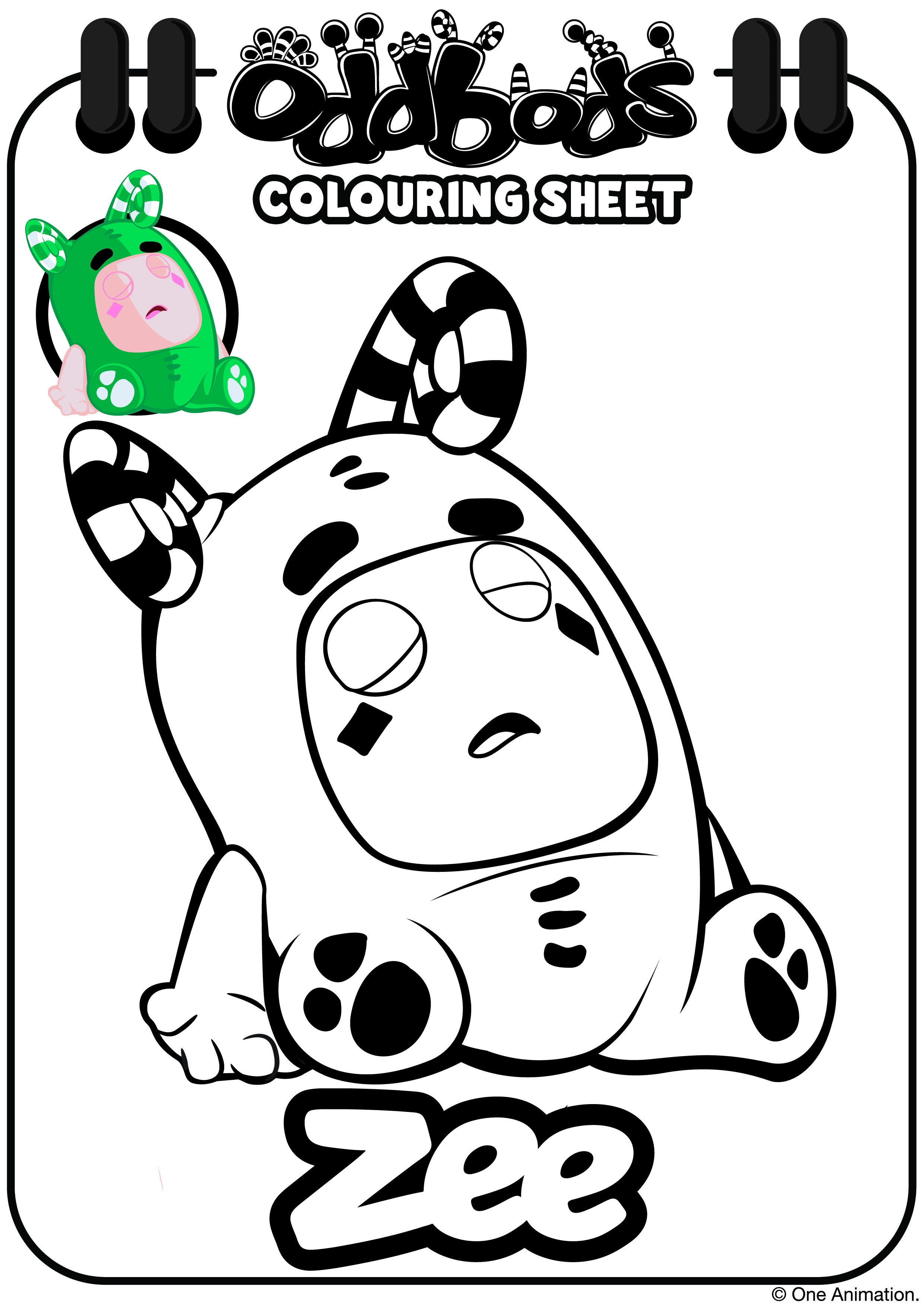 Oddbods Colouring Sheet