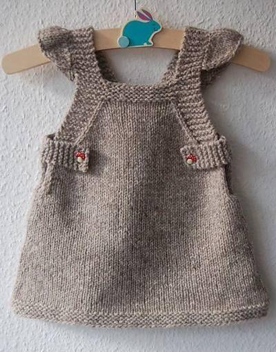 Kislik Orgu Gri Bebek Elbisesi Baby Knitting Patterns Orgu