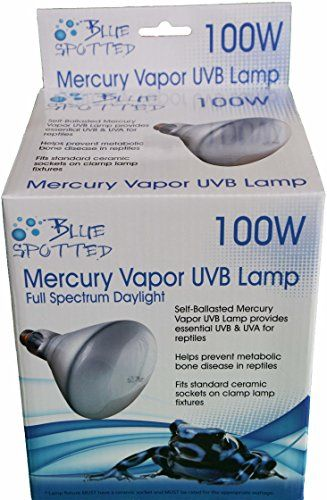 Blue Spotted Mercury Vapor Lamp 100 Watt Provides Heat Essential Uvb Uva For Reptiles Blue Spotted Http Www Amazon Mercury Vapor Russian Tortoise Care