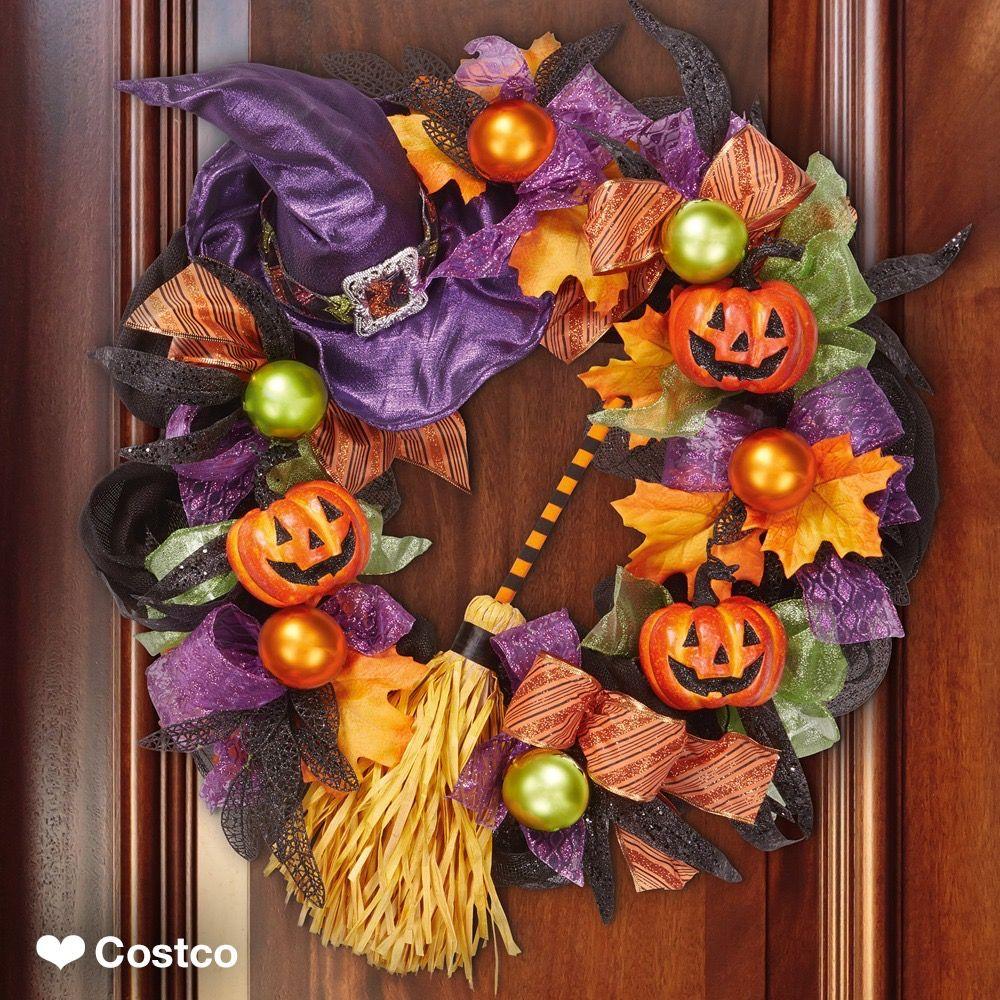 Orange and Black Halloween Ghost Halloween Wreath Halloween Wreath Pumpkin Halloween Plush Ghost Wreath Boo Wreath Candy Corn Wreath