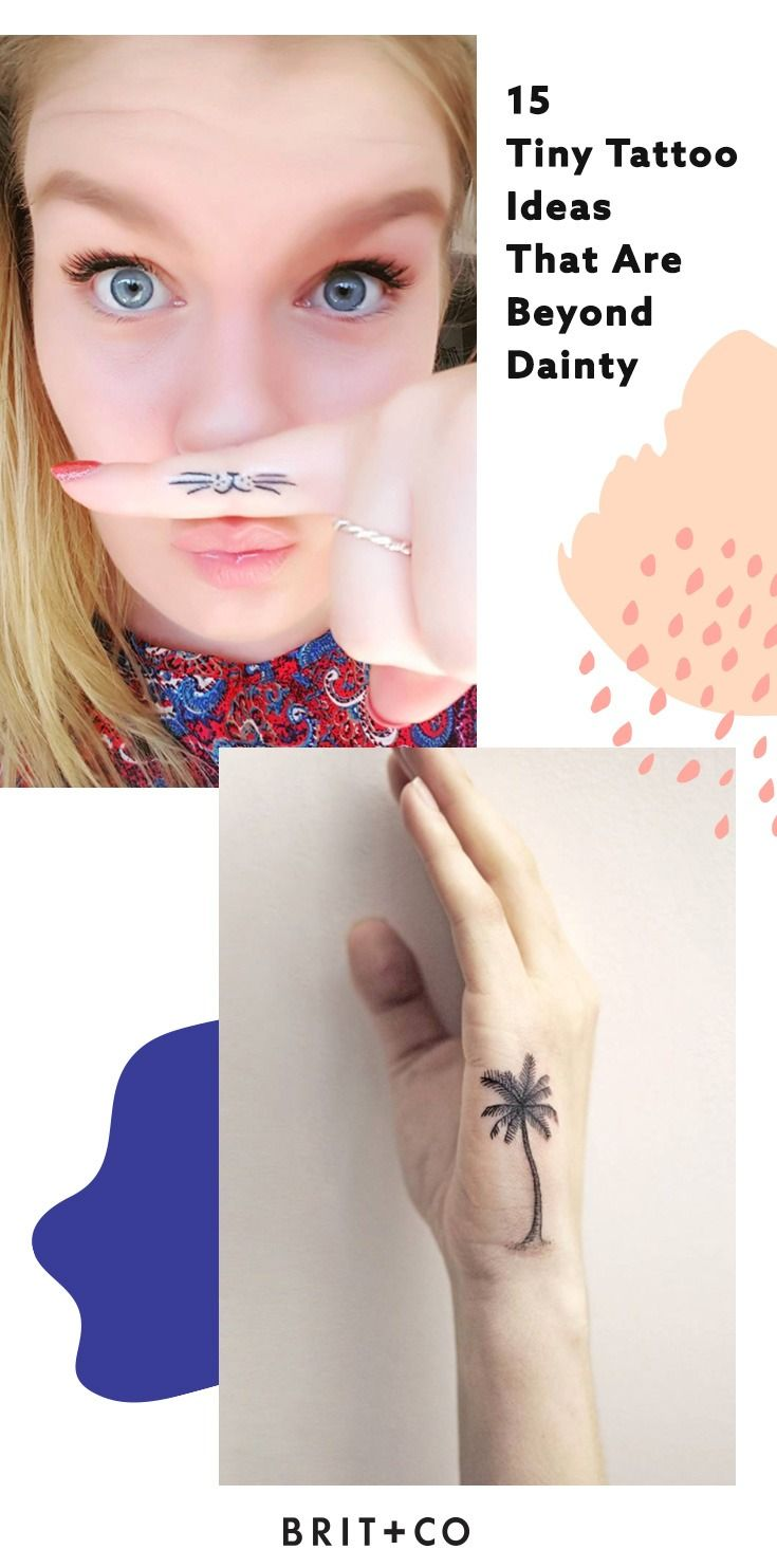 Nose piercing for big nose   Tiny Tattoo Ideas That Are Beyond Dainty  Tattoo Tatoos and Tatting