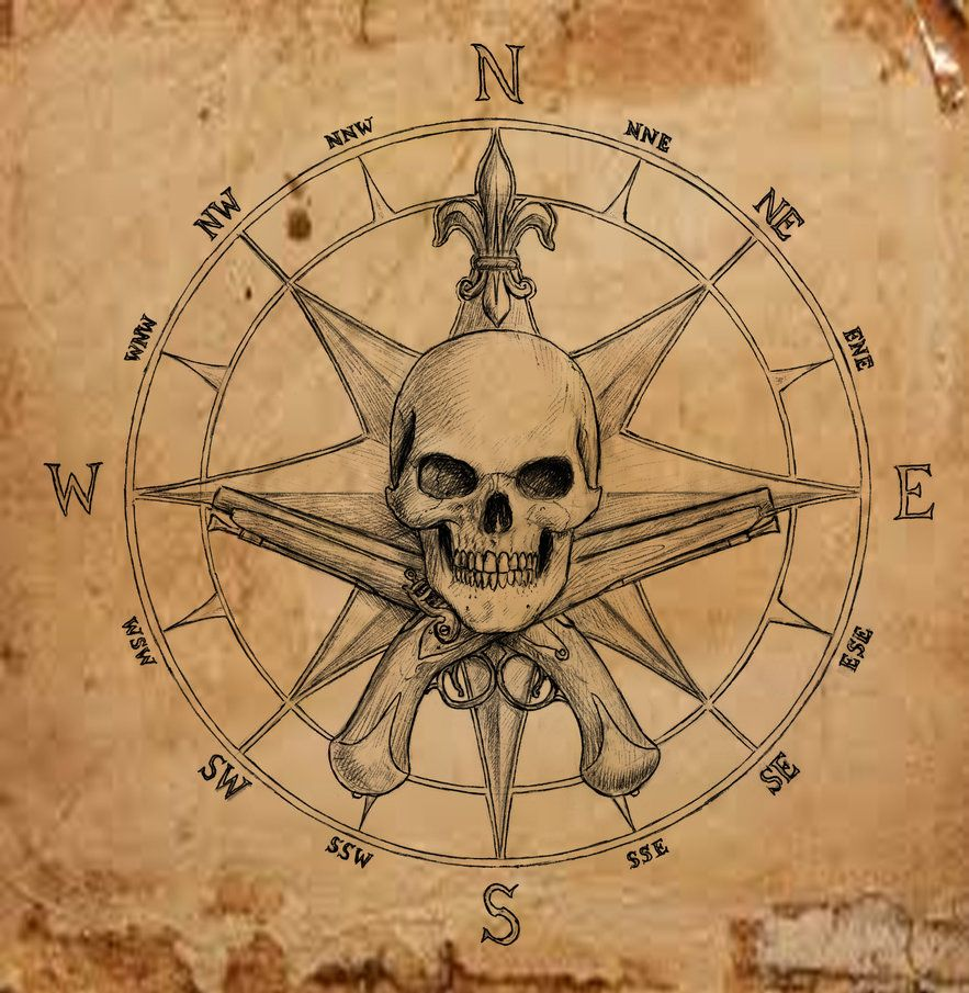 Pirate Compass symbol by dashinvaine on deviantART | Art ...