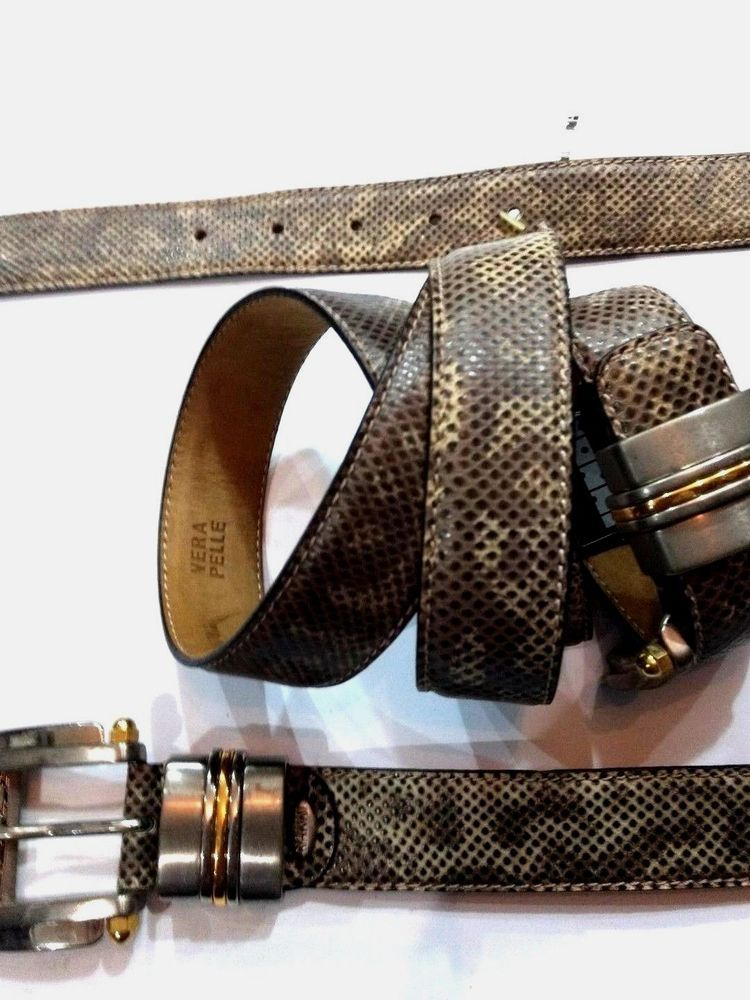 c62fcbf98 Nanni Belts Made In Milan Italy Exotic leather SKINS Great Quality Style  404 New (eBay Link)