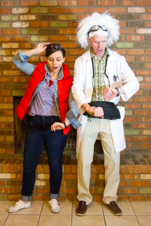 Marty McFly and Doc Brown This Halloween go  Back to the Future.  Click through to find more DIY couple Halloween costumes.  sc 1 st  Pinterest & 20 DIY Couple Halloween Costumes That Will Win Every Contest | Diy ...