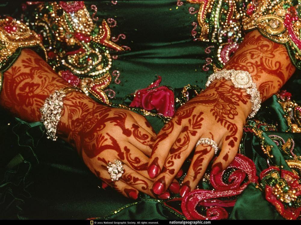 Bride in Henna, Oman