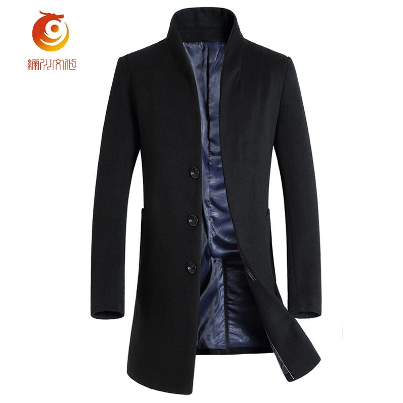 2017 New Light Luxury Men's Wool Jacket Winter Spring Blend Men ...