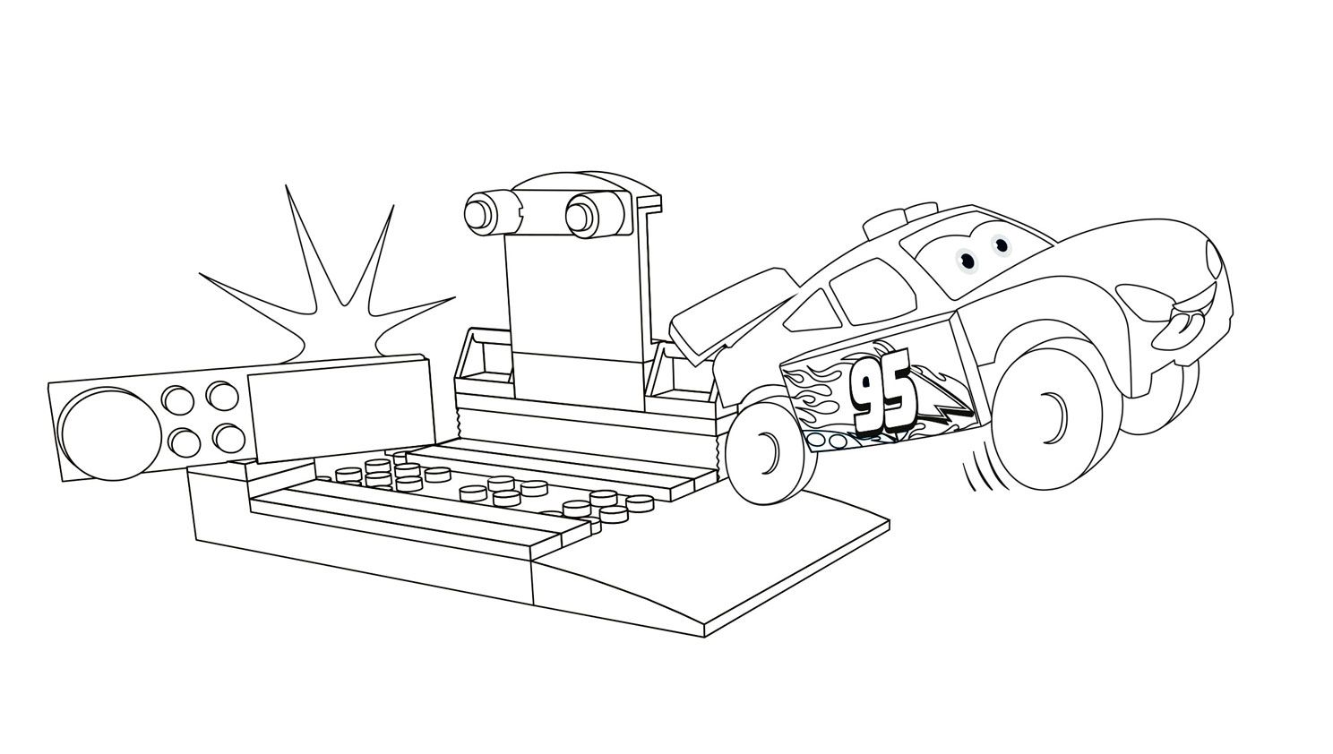 New Lego Race Car Coloring Pages