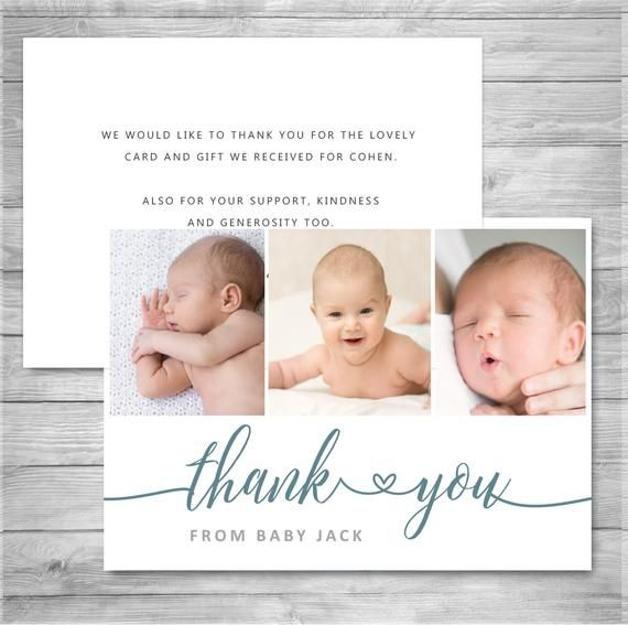 birth announcement baby boy announcement thank you card