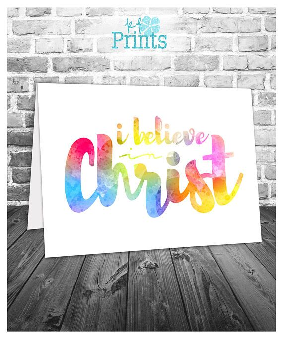 Easter Card   I Believe in Christ   Religious Easter Card   Easter - free printable religious easter cards