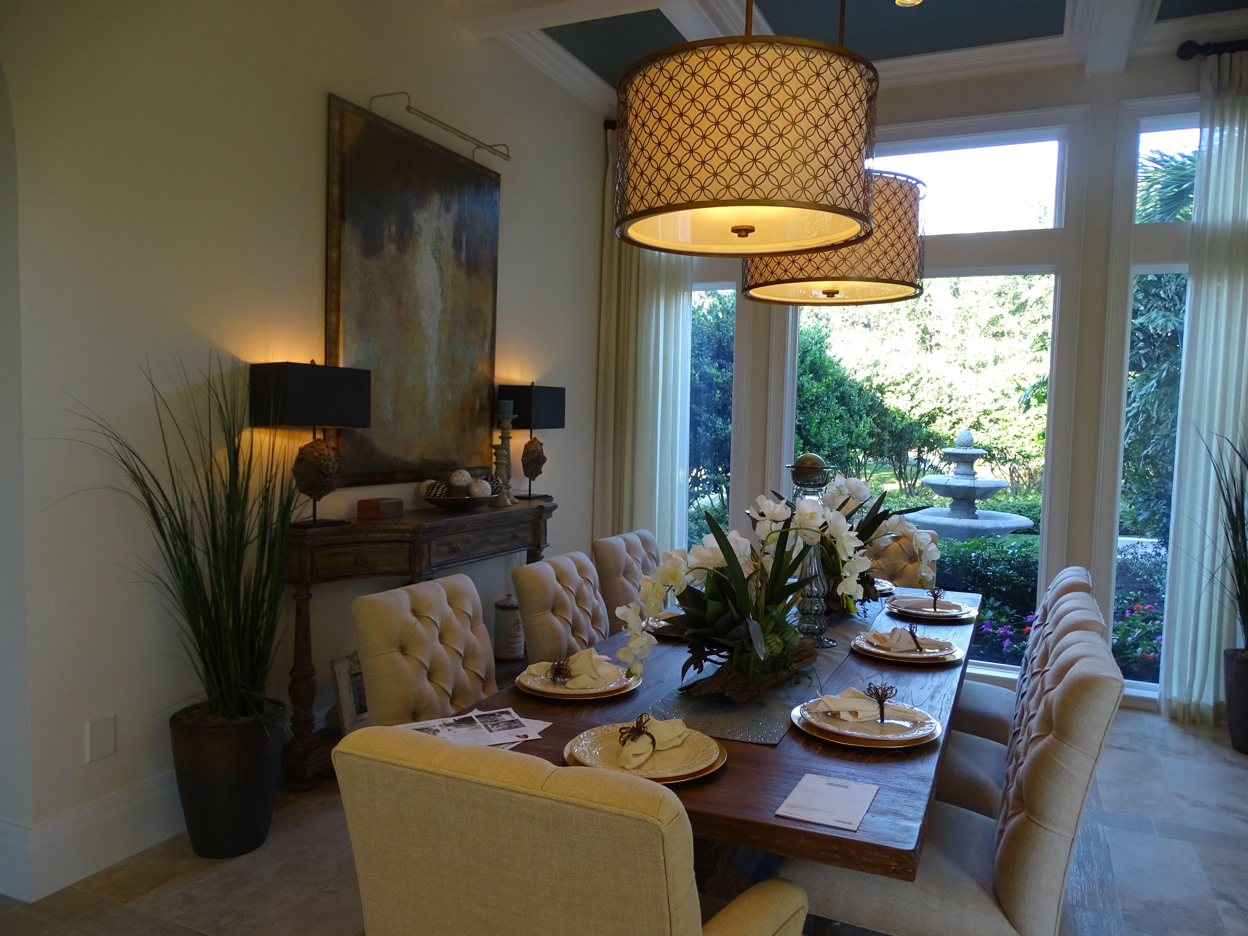 Dining Room  Quail West Model Home  Interior Design By Tricia - Model home interior design