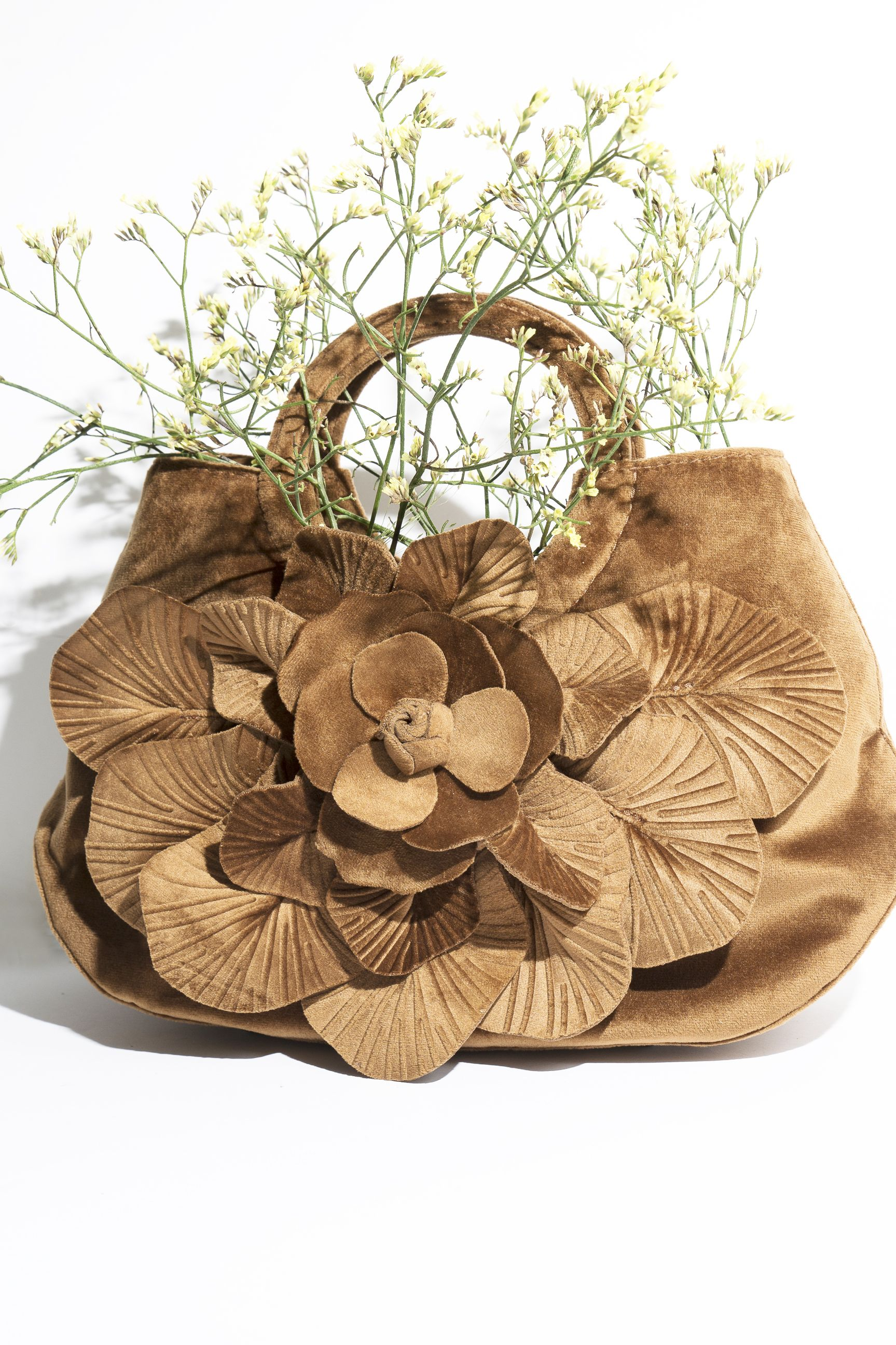 The Scarlet Velvet Is An Anne Fontaine Signature Handbag In With Over Sized Flower For More Handbags At Annefontaine