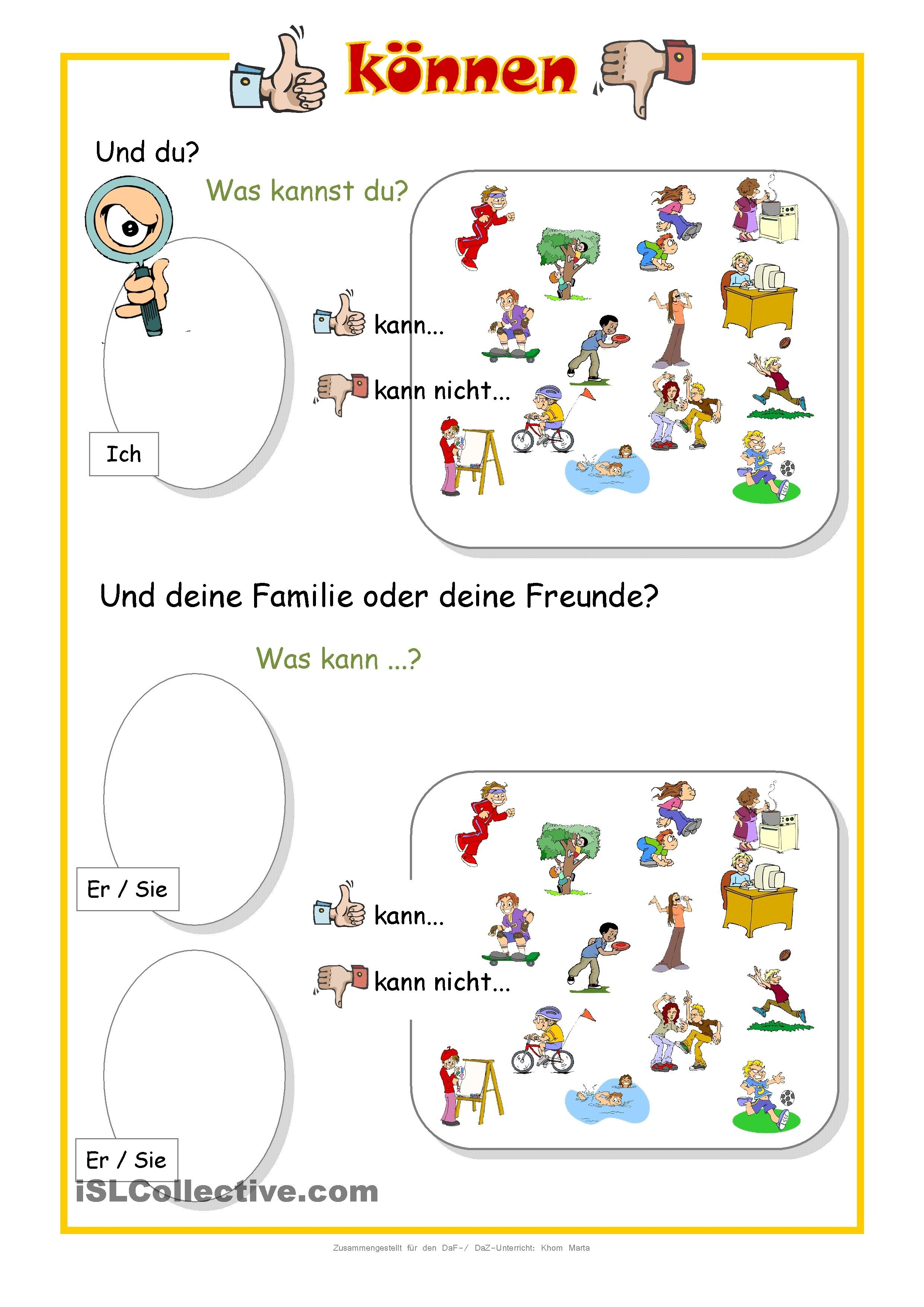 Können   Deutsch   Pinterest   German and Homeschool