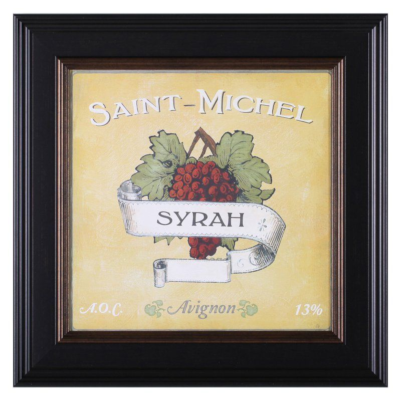 Art Effects Vintage Wine Labels VI Framed Wall Art - D45255 ...