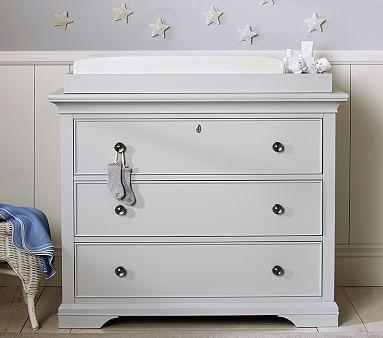 Larkin Nursery Dresser Amp Topper Set Simply White