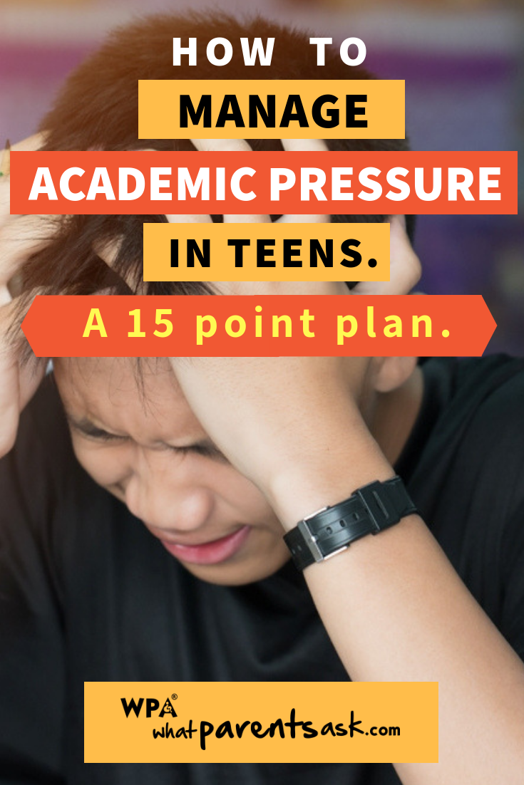 how to manage academic pressure in teenagers. Academic pressure is one of  the most common