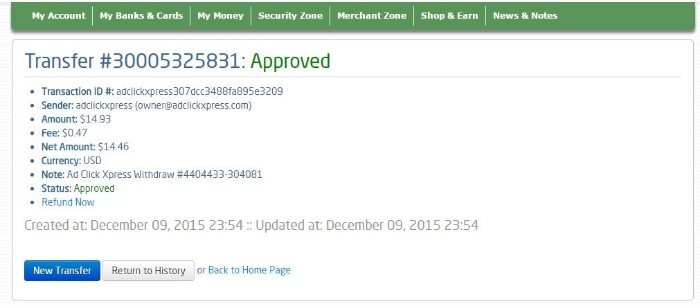 Here is my Withdrawal Proof from AdClickXpress. I get paid daily and I can withdraw daily. Online income is possible with ACX, who is definitely paying - no scam here.I WORK FROM HOME less than 10 minutes and I manage to cover my LOW SALARY INCOME. If you are a PASSIVE INCOME SEEKER, then AdClickXpress (Ad Click Xpress) is the best ONLINE OPPORTUNITY for you!! http://www.adclickxpress.is/?r=marina+ivanov&p=mx