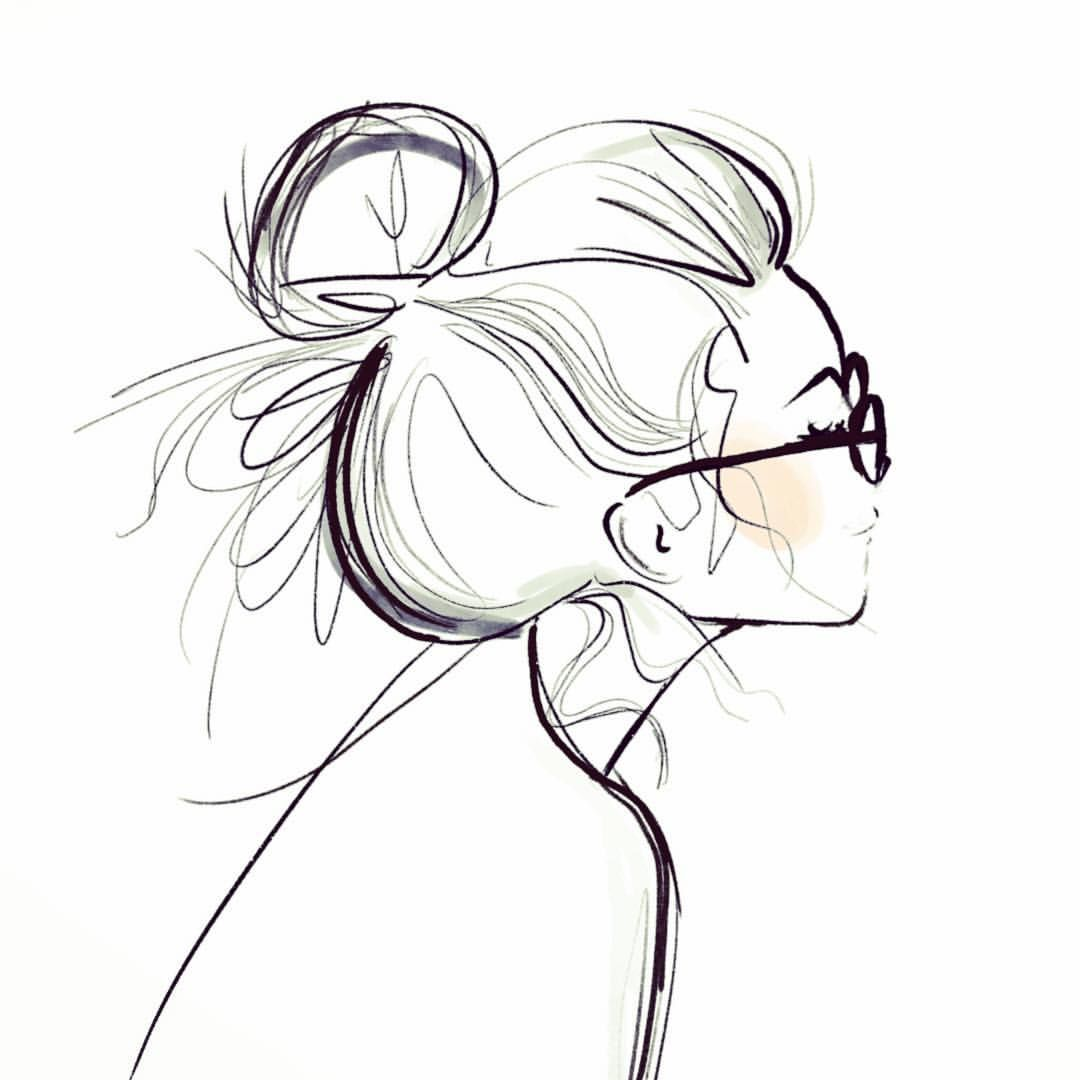 "Kera Till on Instagram: ""Sundays are for messy buns and glasses"""