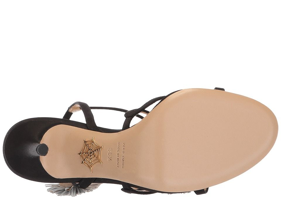 3d7f277dee0e Charlotte Olympia HG Sandal Pompom High Heels Black