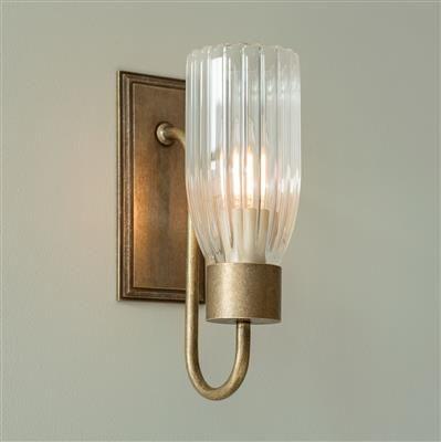 Brass fluted glass single morston wall light jim lawrence brass fluted glass single morston wall light jim lawrence aloadofball Gallery
