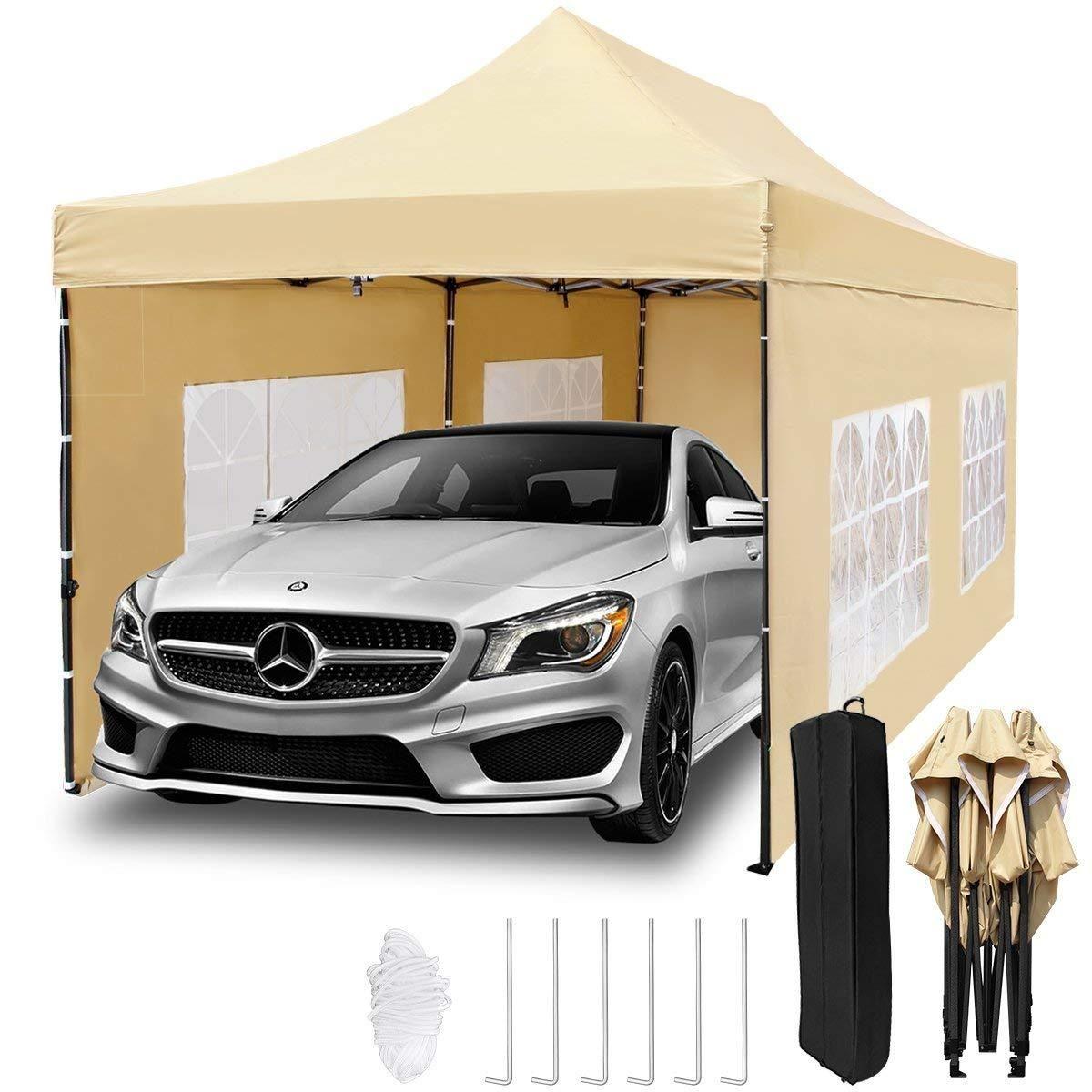 10x20 ft Pop up Canopy Tent Carport, Heavy Duty Waterproof