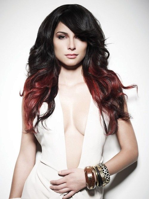 Bombshell Waves – Black to Red Ombre Hair | Beauty Tips N ...