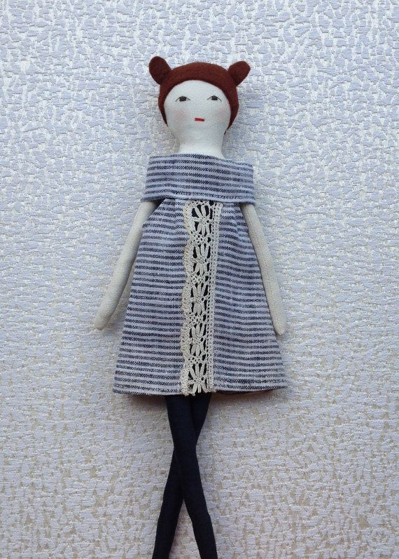 Aida is a dress-up cloth doll made for active, quiet and imaginative play for children of all ages. Made in a pet free, smoke free environment, she is