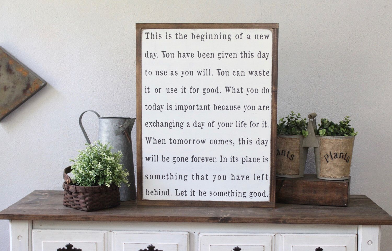 This is the beginning of a new day wood sign wood wall art
