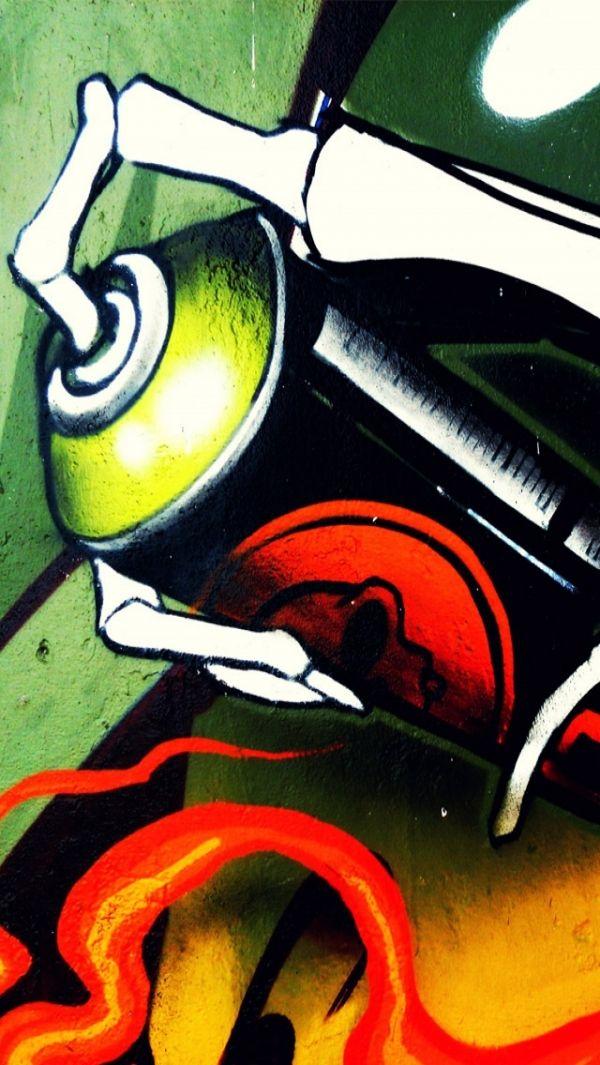 Street Art Spray Paint Can Fond Ecran Iphone Fond Ecran Ecran Iphone