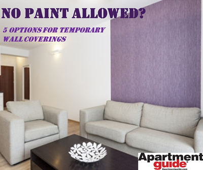No Paint Allowed 11 Options For Temporary Wall Coverings Apartmentguide Com Apartment Walls Temporary Wall Covering Home