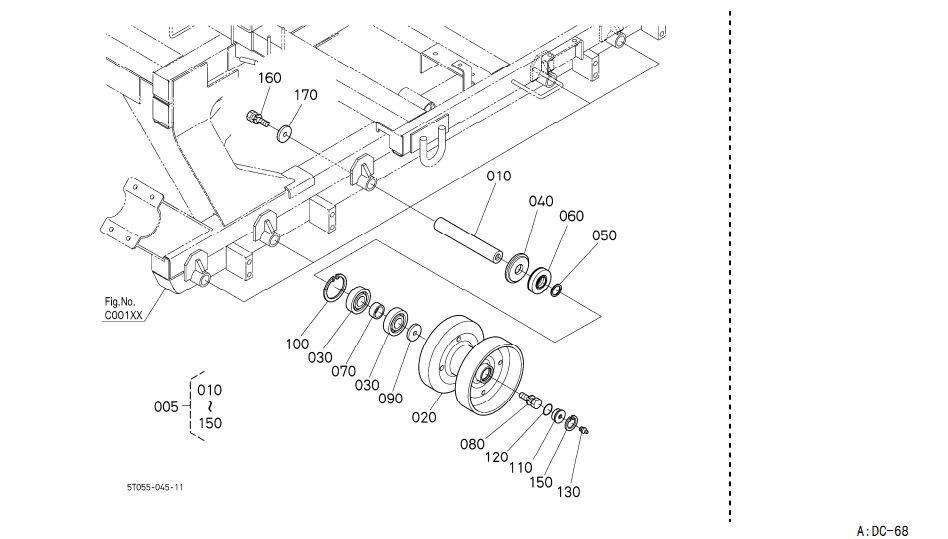 Kubota Combine Harvester Spare Parts Dc 68g 5t051 2313 0