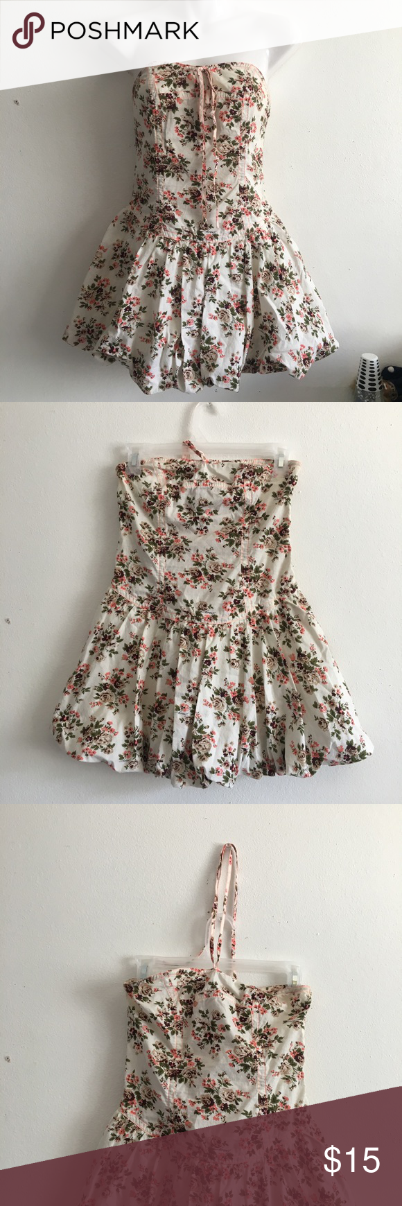 acd1ba1d8fbd2 Tracy Feith Bubble Mini Dress Strapless or Halter Super cute Tracy Feith  for Target. Super small size 1 dress. Floral print and bubble bottom.