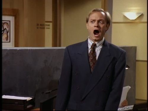 Niles Crane being shocked. | Funny shows, Movie tv, Barney miller