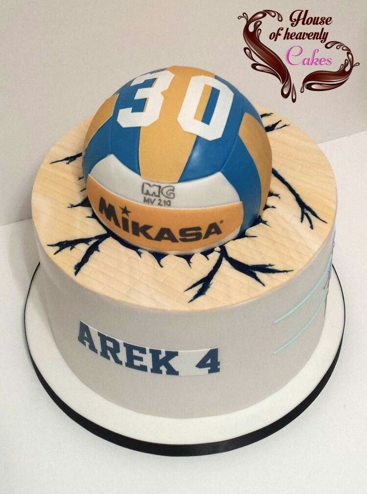 Awe Inspiring Mikasa Volleyball Cake With Images Volleyball Cakes Personalised Birthday Cards Beptaeletsinfo