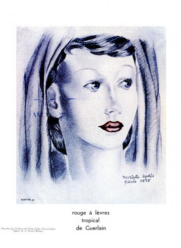 Guerlain Tropical Lipstick 1935 Guerlain Make Up