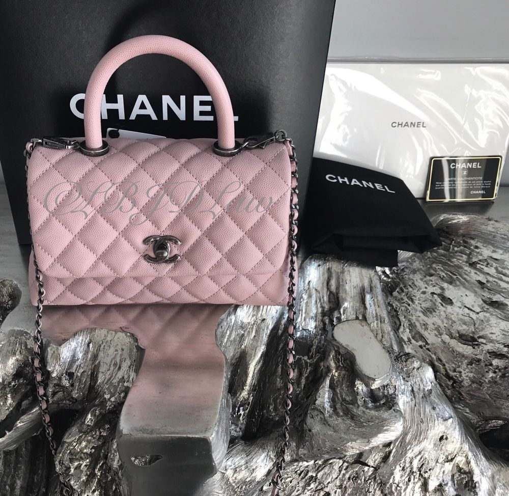 71924e82549f NWT CHANEL CoCo Handle Pink Caviar Mini Small DETACHABLE Chain KELLY Flap  Bag *ROSE POUDRE* GORGEOUS RARE NEUTRAL BLUSH NUDE COLOR