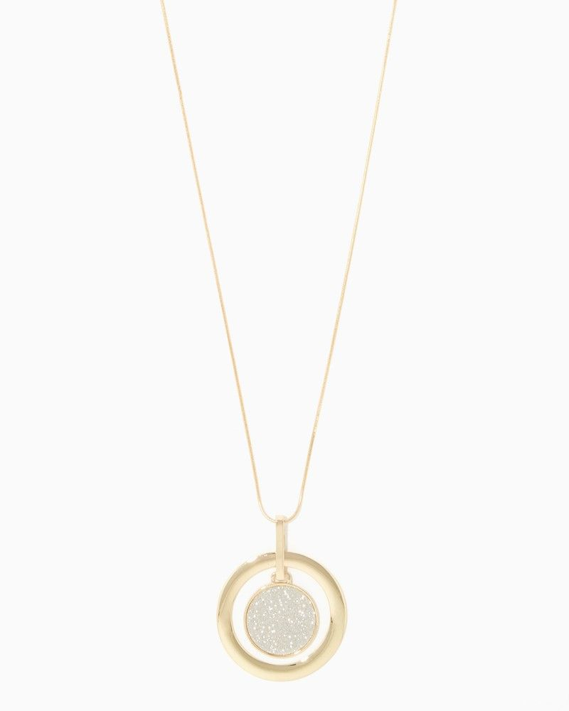 Stardusted Medallion Pendant Necklace | Charming Charlie
