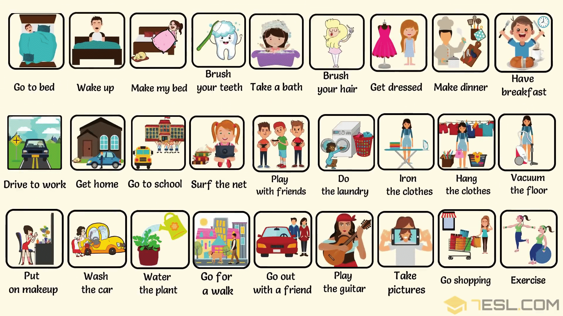 Daily Routines Useful Words To Describe Your Daily