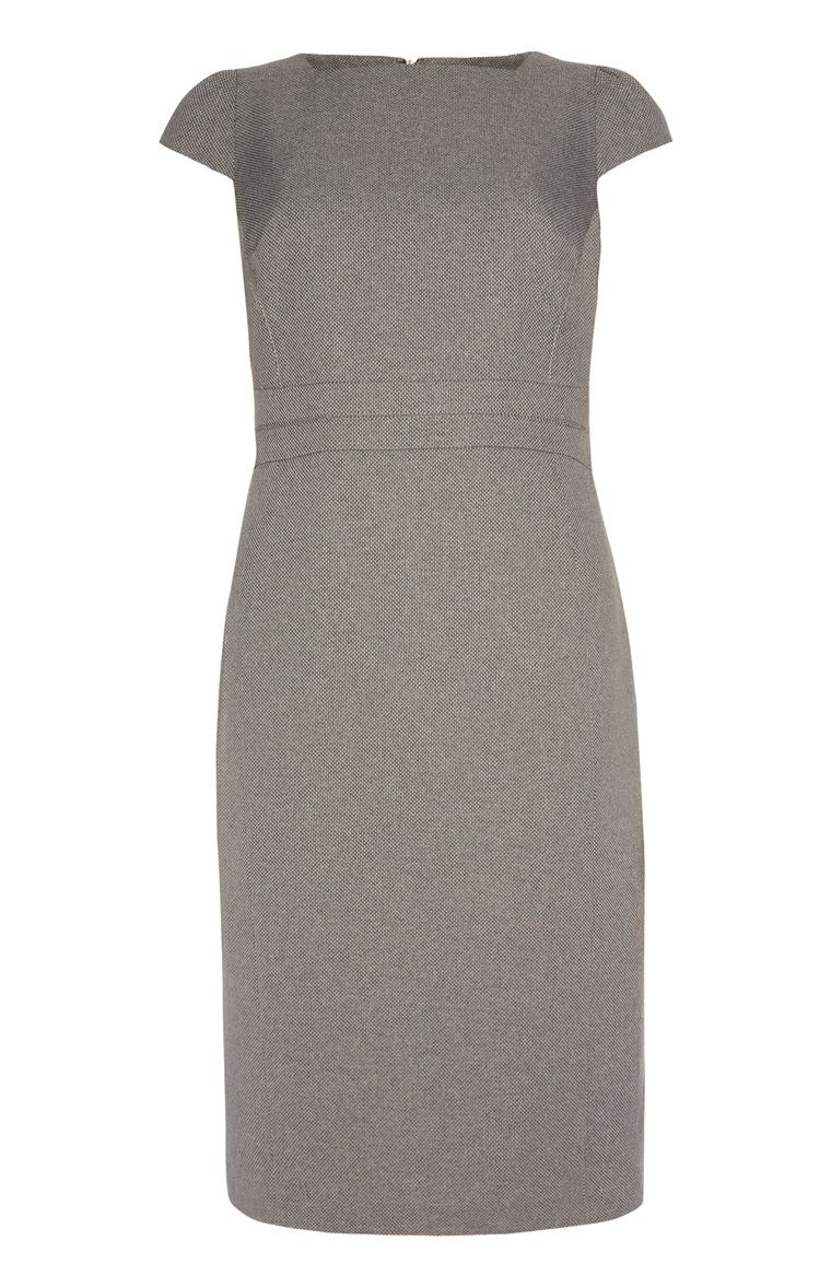 graues bi-stretch-kleid | dresses, dresses for work, fashion