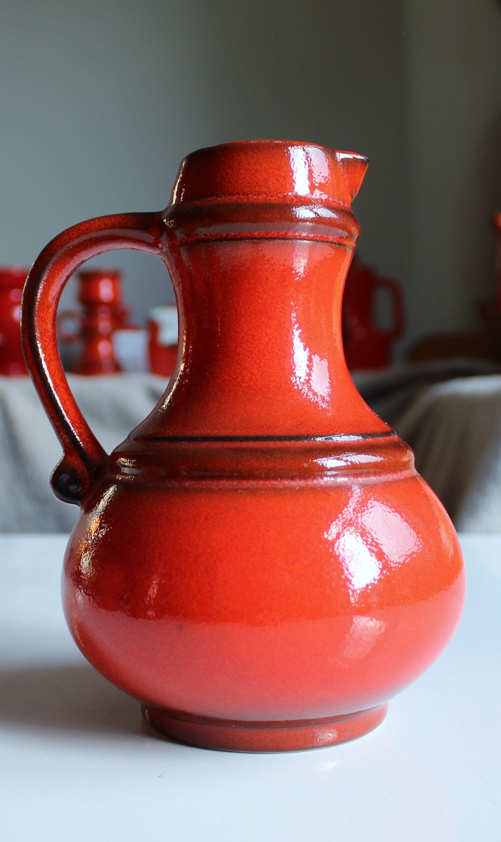 Scheurich West German Pottery Planter Deep Rose Color