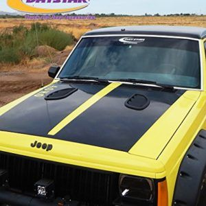 Daystar Black Side Hood Vents For Jeep Cherokee Xj Jeep Cherokee