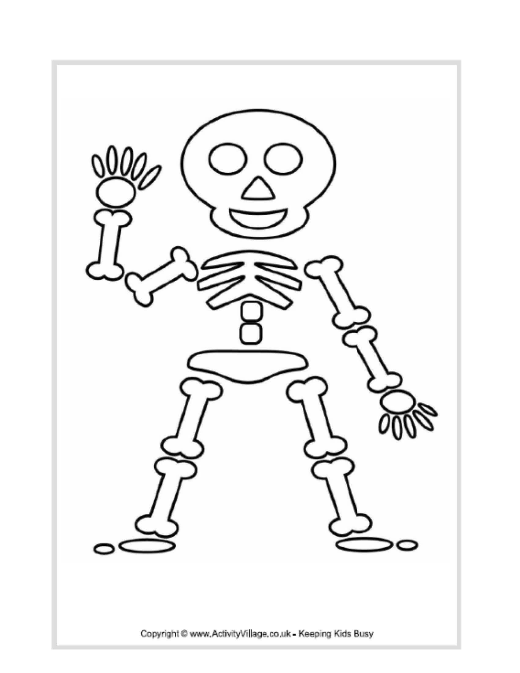 Skeleton Coloring Pages For Preschoolers Halloween Coloring
