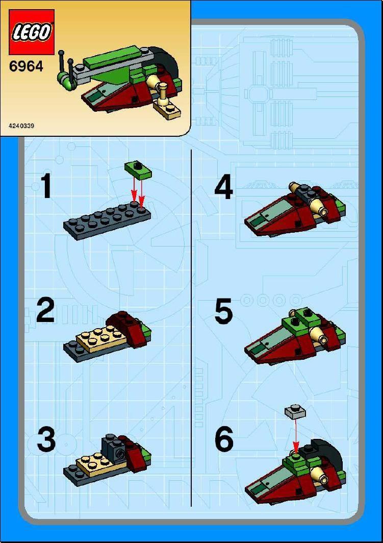 Star Wars Mini Boba Fetts Slave I Lego 6964 Chris Lego