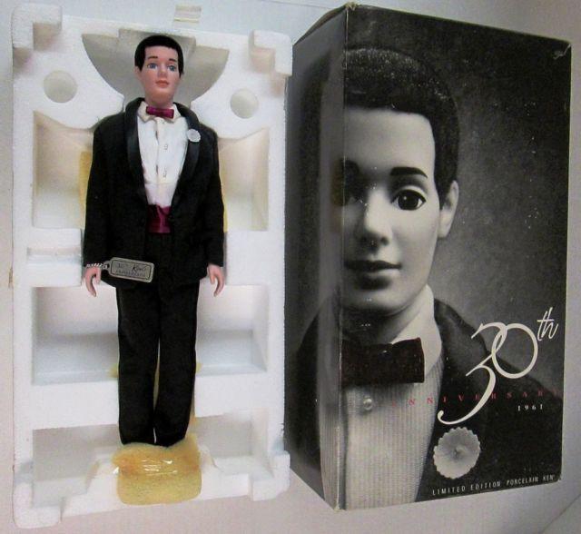 Barbie Porcelain Ken Doll 1991 Mattel 30th Anniversary