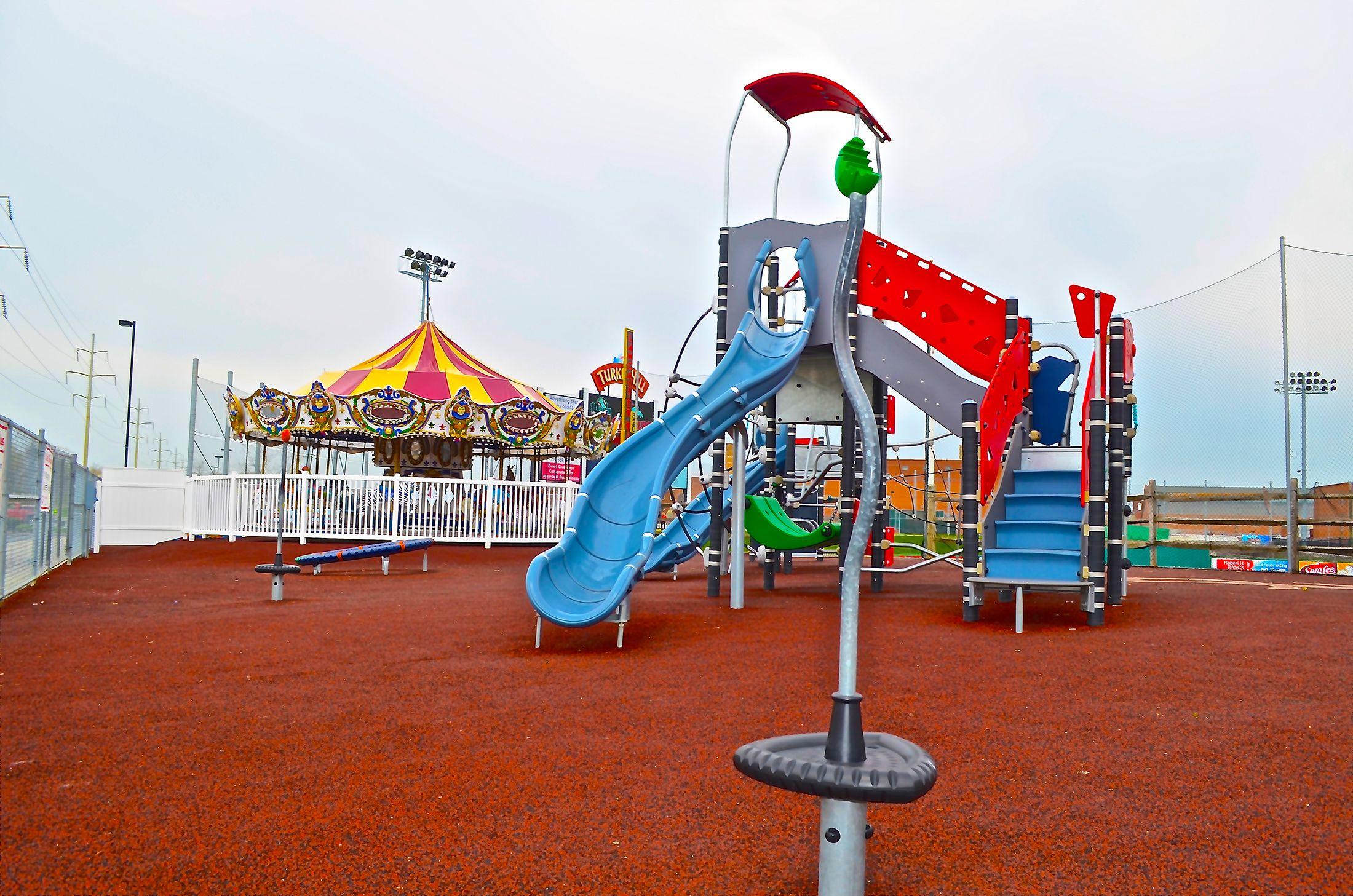 Clipper Magazine Stadium Stadium Playground Kids Playing