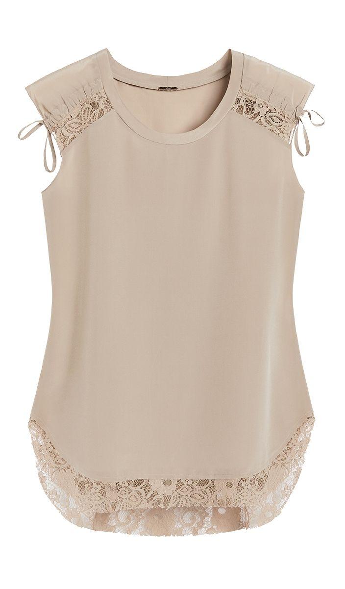 Ruched Shoulder Lace Top em 2019 | Fashion - I need it! | Pinterest ...