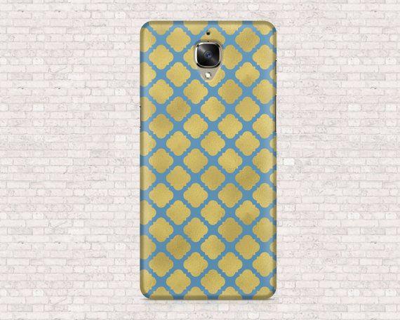 Gold and blu geometric tag phone case  OnePlus 3 di Coverizing