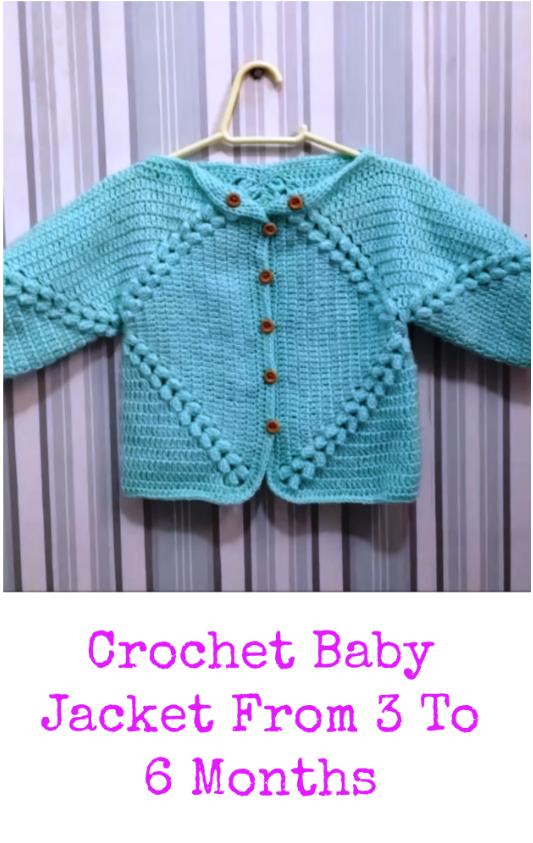 crochet baby jacket from 3 to 6 months   Crochet & Amigurumi Corner ...