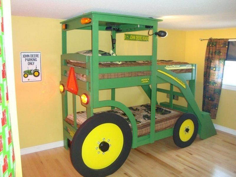 Build Your Kids A Tractor Bunk Bed Kid Beds Kids Room Boys Bedding