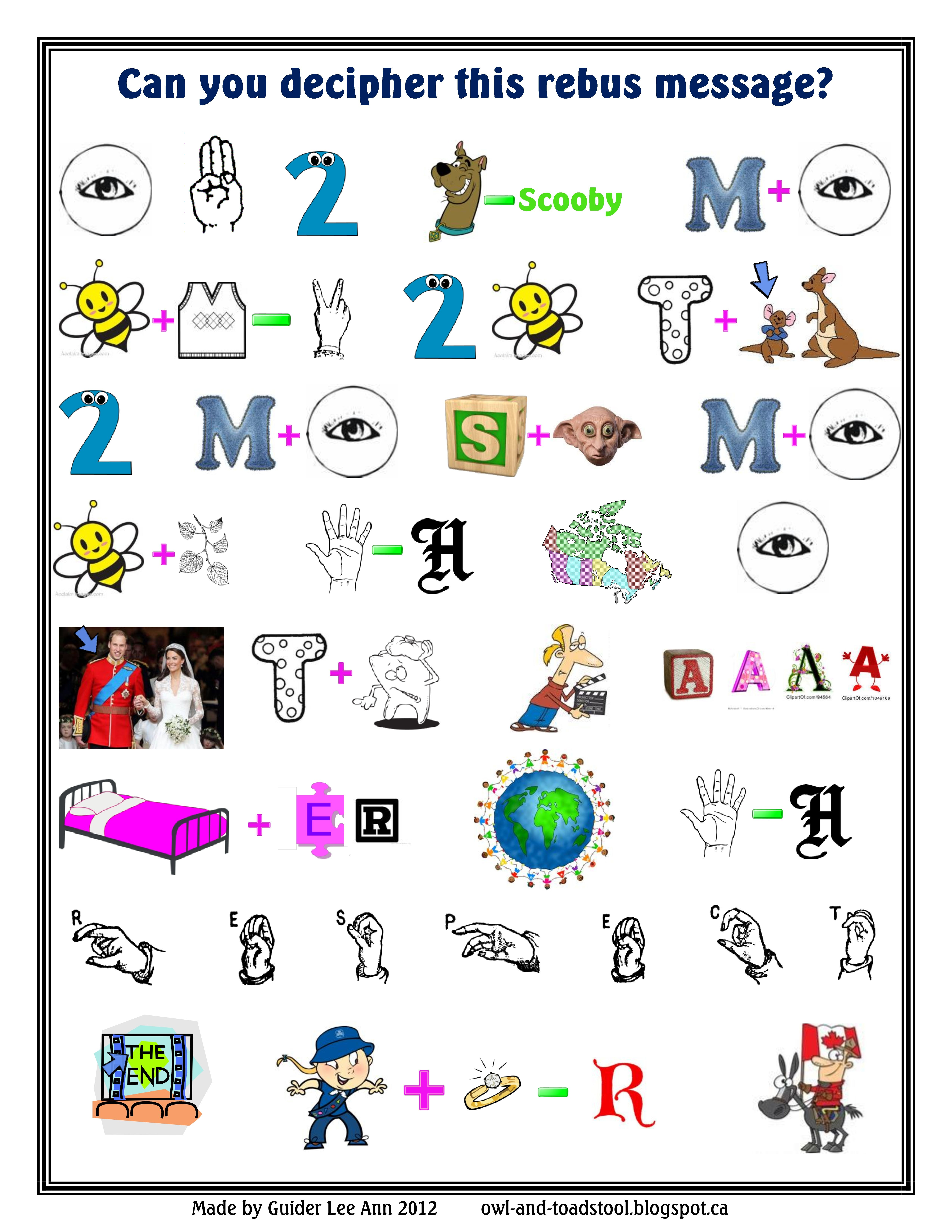 worksheet Rebus Puzzles Worksheet 1000 images about rebus puzzles on pinterest blue gold maths and third grade