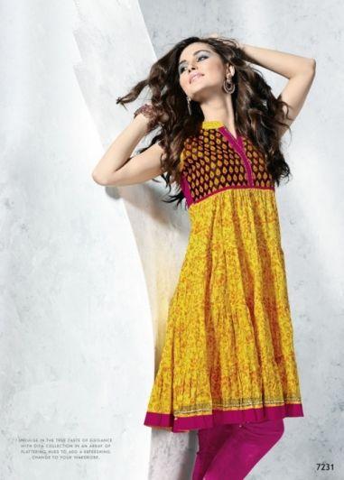 Yellow Colored Self Printed Cotton Flair Fancy Top. http://www.shreedevitextile.com/women/kurti/shreedevi-kurti/shree-devi/yellow-colored-cotton-kurti--7231